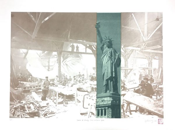 Liberty in Paris and New York
