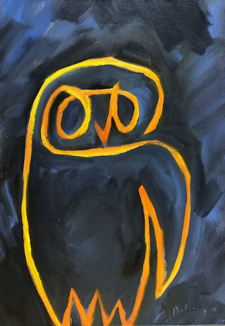 Picasso's owl (yellow)
