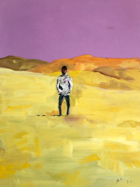 Conversations at Tonglen (purple sky)