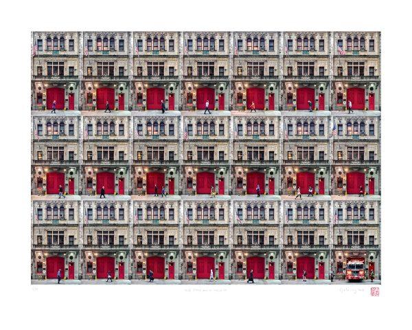 Red FDNY Door on W43rd Street