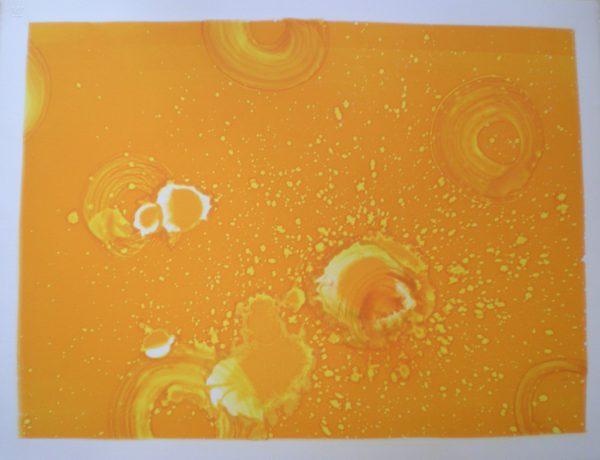 Orange Raindrops