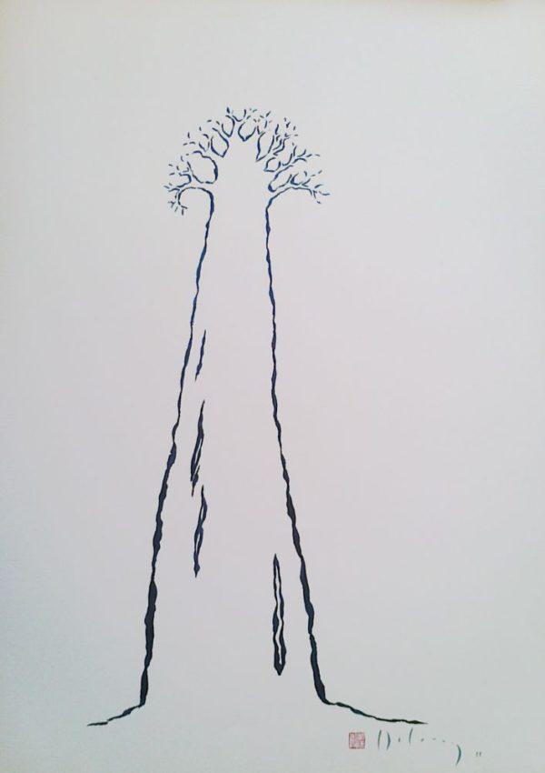 Sitting below the baobab