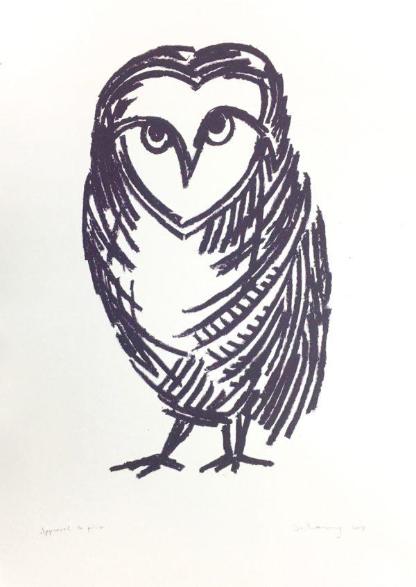 Owl B (lithograph)