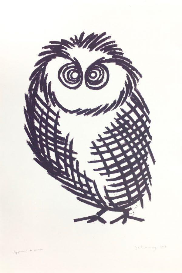 Owl D (lithograph)