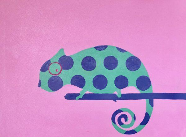 Polka chameleon