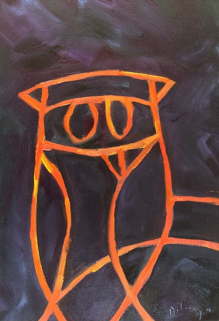 Picasso's owl (orange)