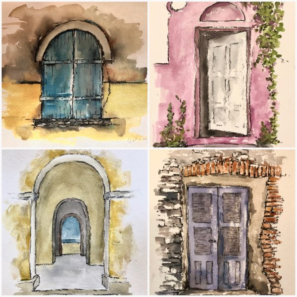 Goree Island door sketches