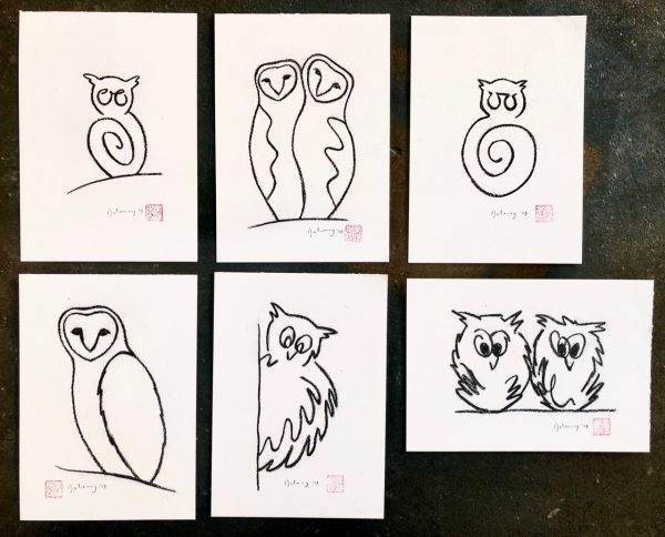 Owl sketches (2)