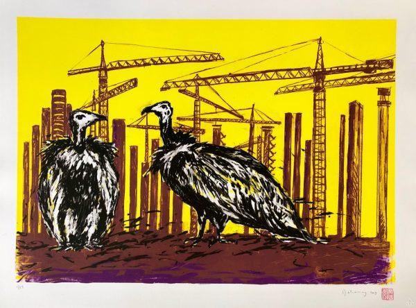 Vultures at Medupi